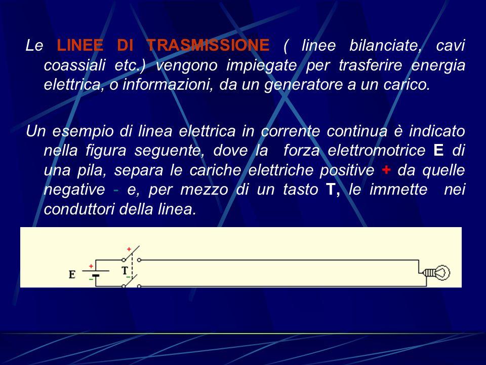 Le LINEE DI TRASMISSIONE ( linee bilanciate, cavi coassiali etc