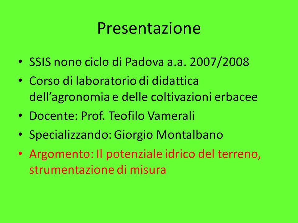 Presentazione SSIS nono ciclo di Padova a.a. 2007/2008