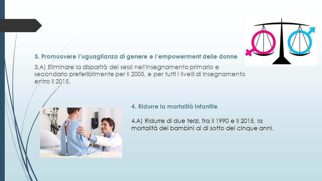 3. Promuovere l'uguaglianza di genere e l'empowerment delle donne 3