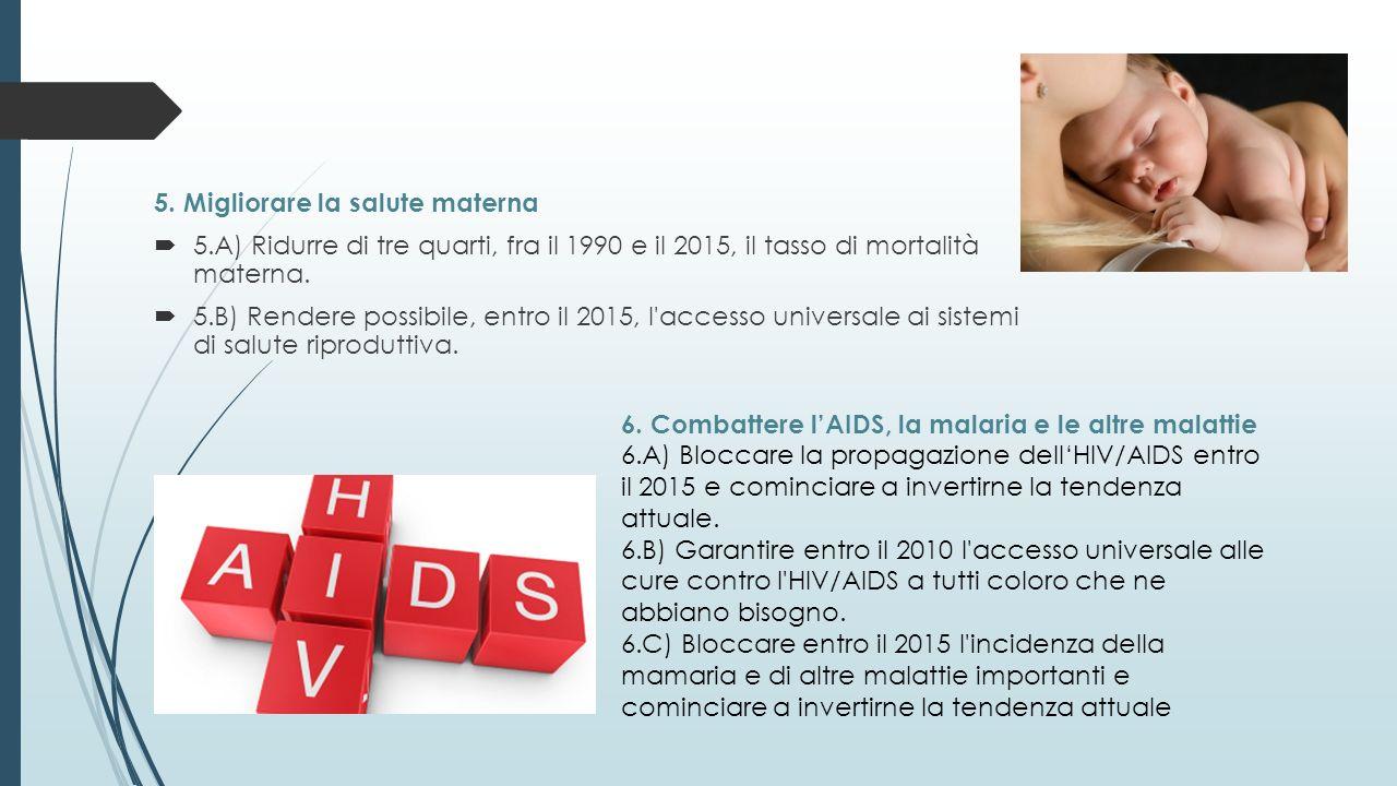 5. Migliorare la salute materna