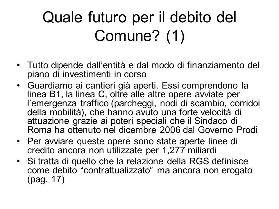 Quale futuro per il debito del Comune (1)