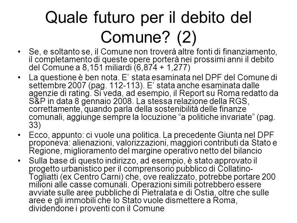 Quale futuro per il debito del Comune (2)
