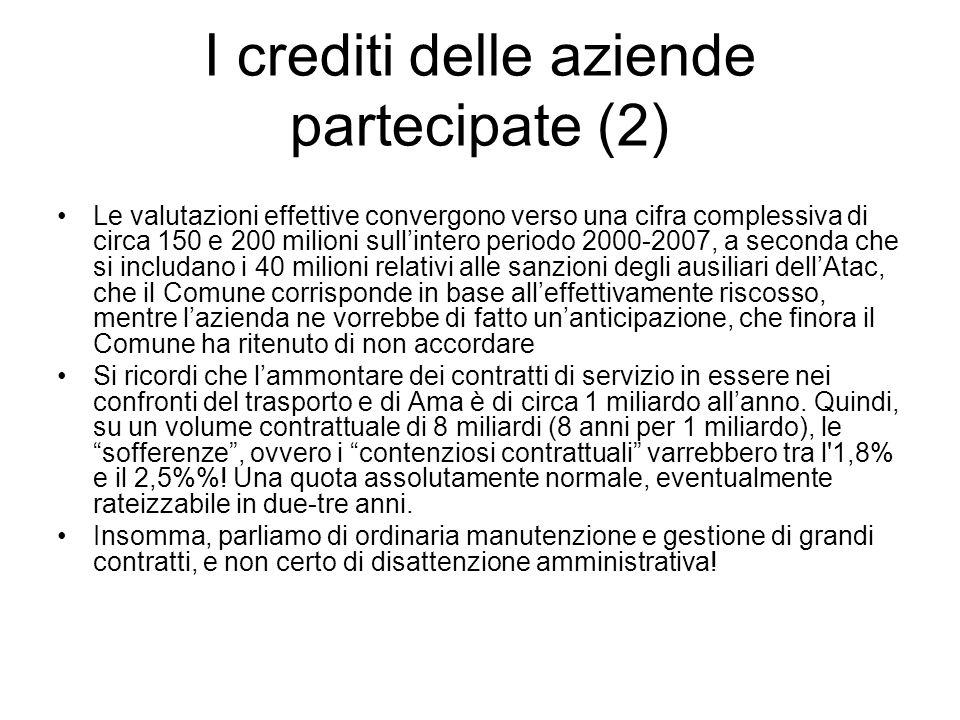 I crediti delle aziende partecipate (2)