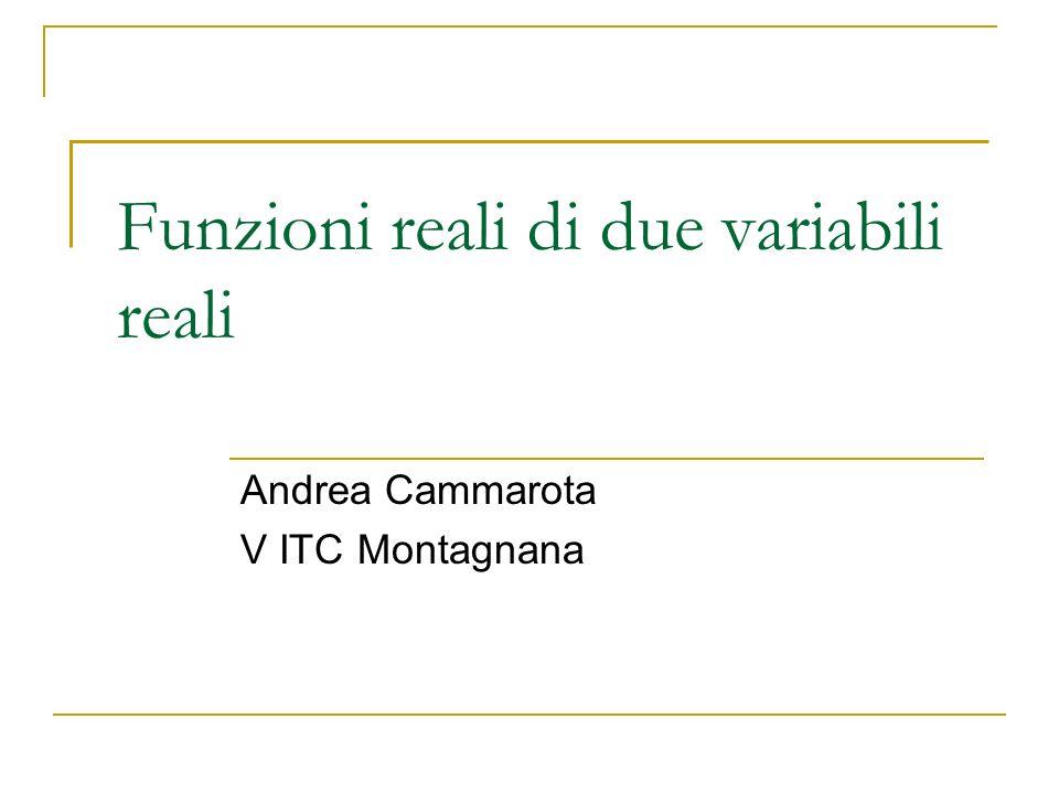 Funzioni reali di due variabili reali