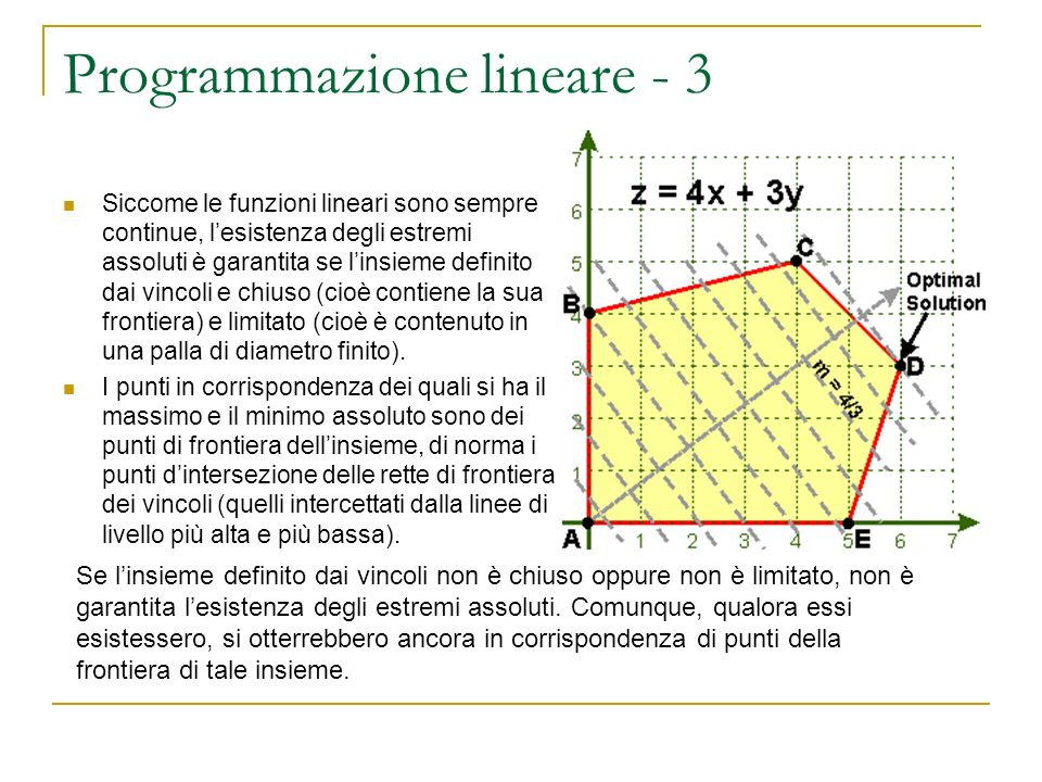Programmazione lineare - 3