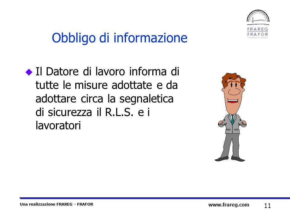 Obbligo di informazione