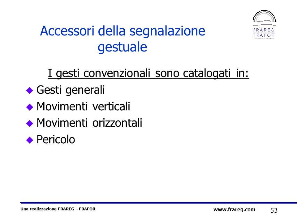 Accessori della segnalazione gestuale