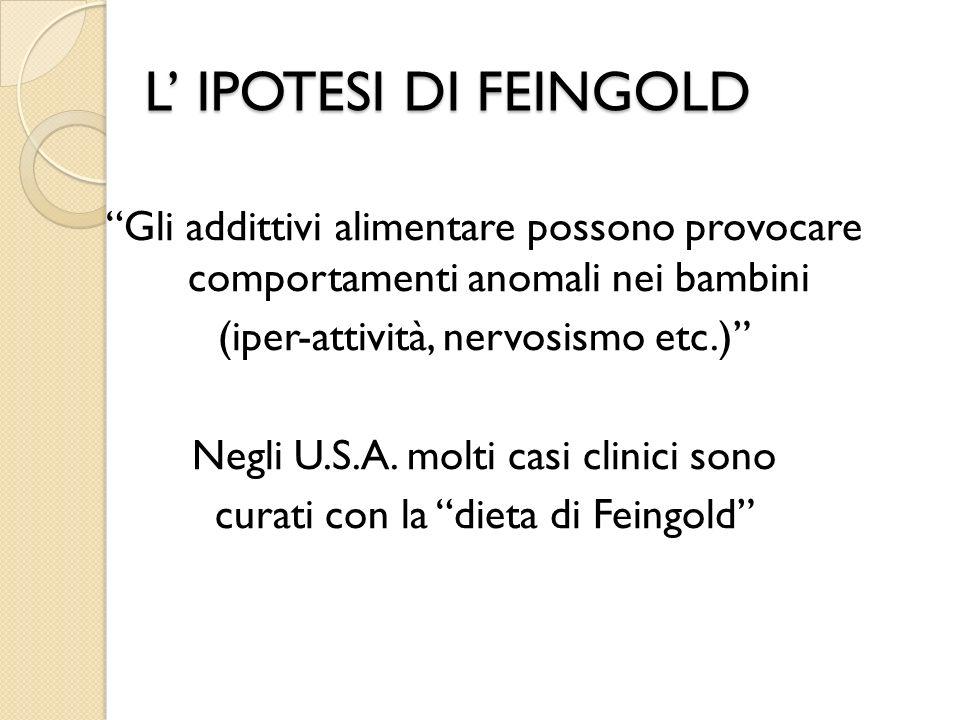 L' IPOTESI DI FEINGOLD
