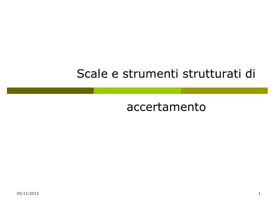 Scale e strumenti strutturati di accertamento