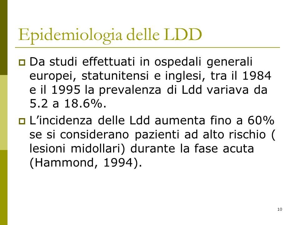 Epidemiologia delle LDD