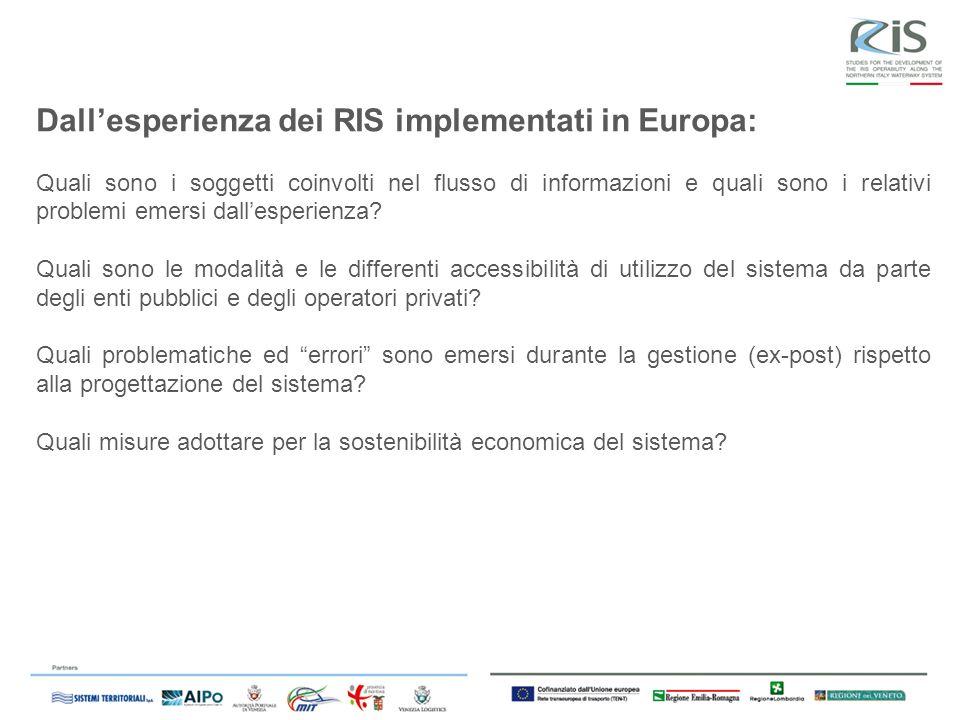Dall'esperienza dei RIS implementati in Europa: