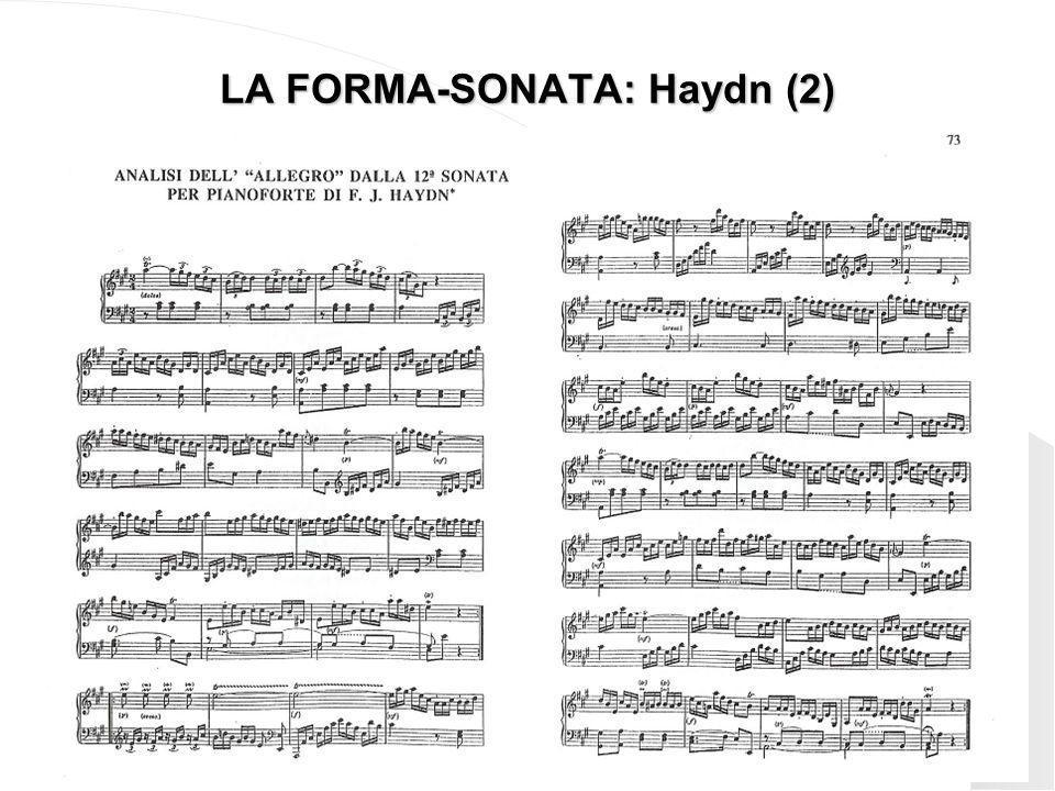 LA FORMA-SONATA: Haydn (2)