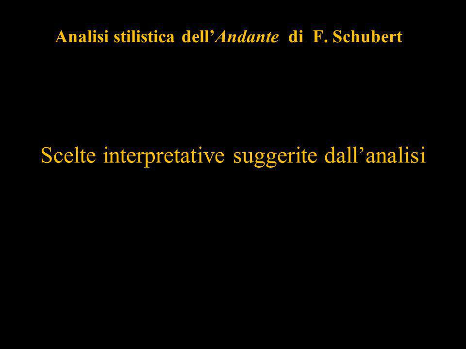 Analisi stilistica dell'Andante di F. Schubert