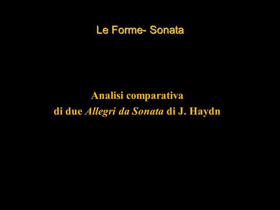 Analisi comparativa di due Allegri da Sonata di J. Haydn