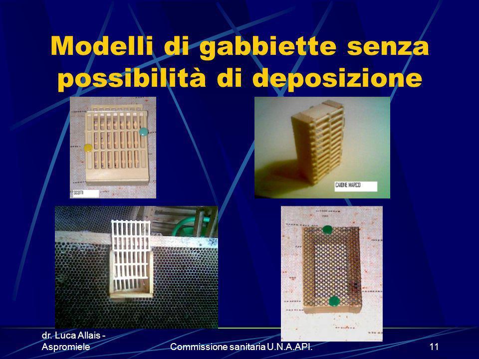Modelli di gabbiette senza possibilità di deposizione