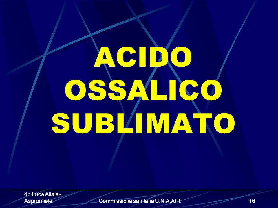 ACIDO OSSALICO SUBLIMATO