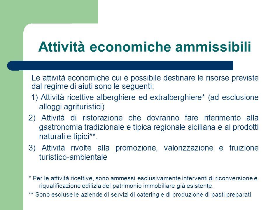 Attività economiche ammissibili