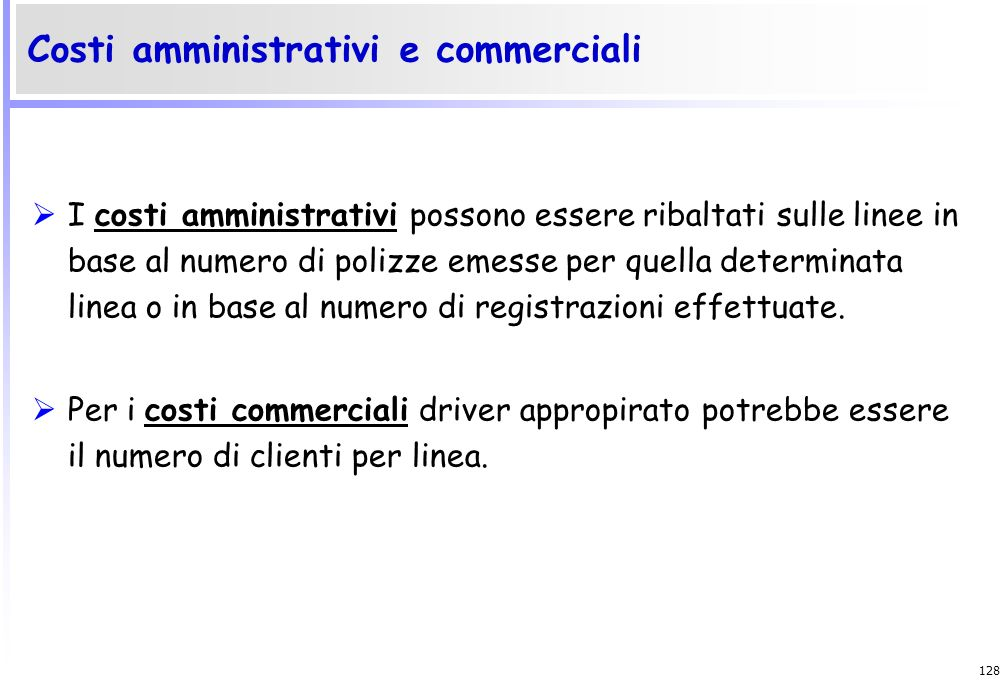Costi amministrativi e commerciali