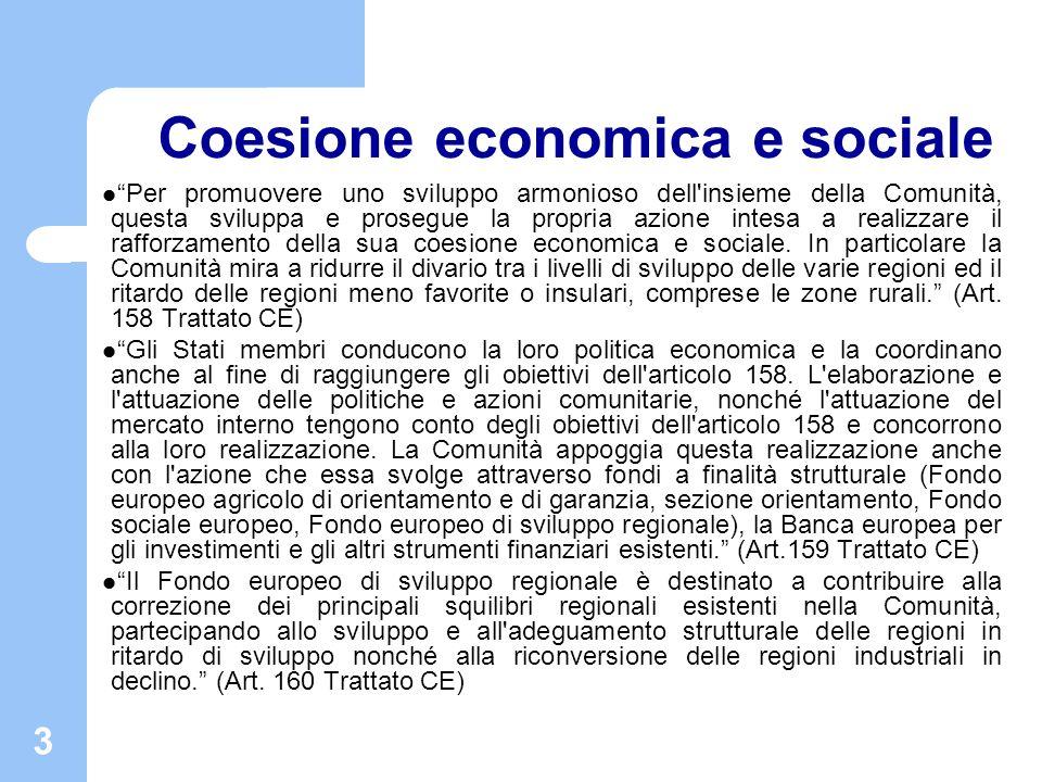 Coesione economica e sociale