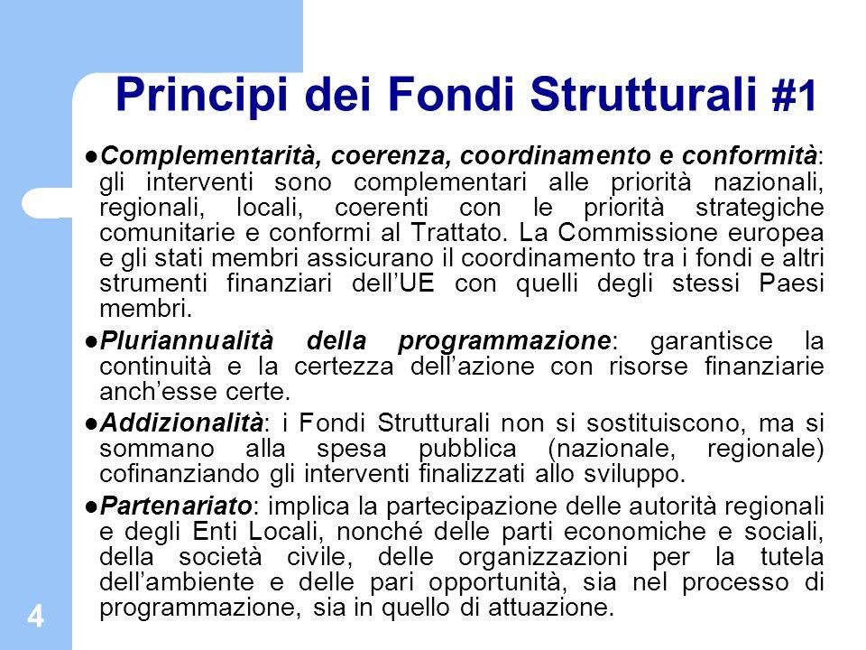 Principi dei Fondi Strutturali #1