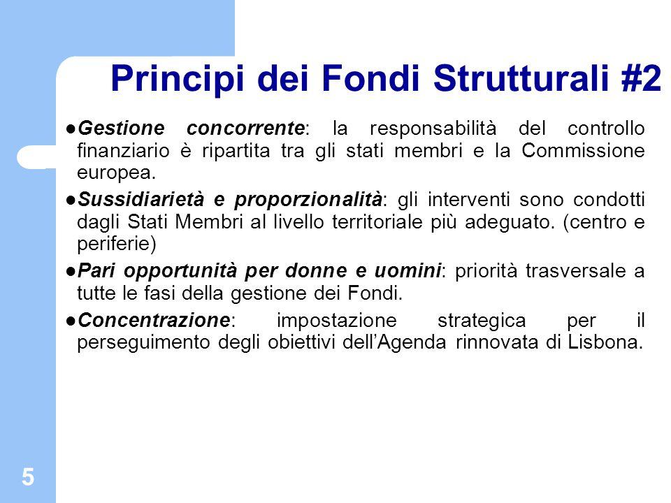 Principi dei Fondi Strutturali #2