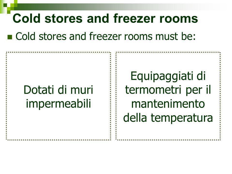 Cold stores and freezer rooms