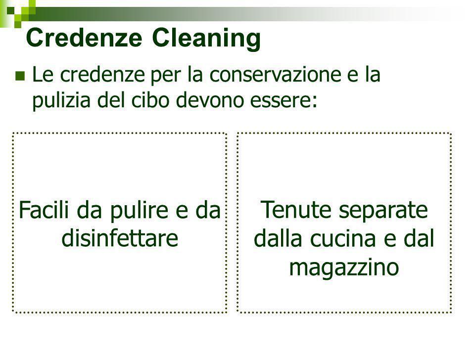 Credenze Cleaning Facili da pulire e da disinfettare
