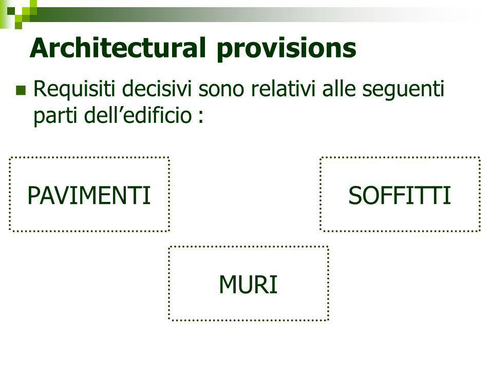 Architectural provisions