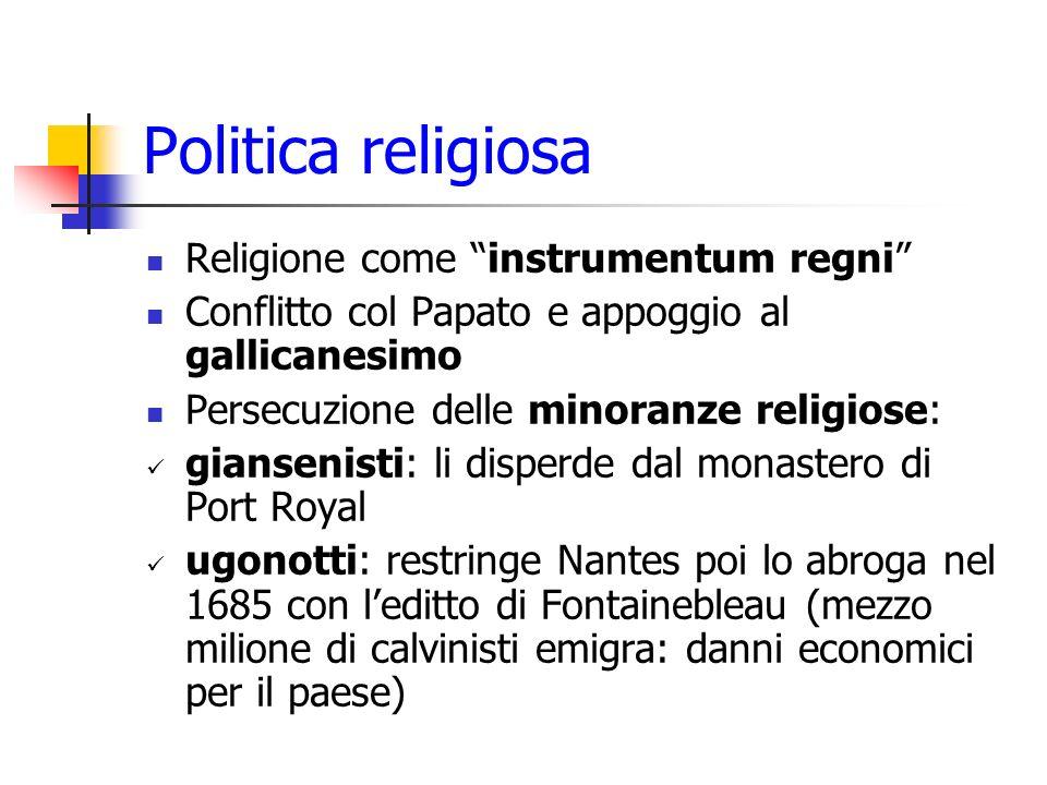 Politica religiosa Religione come instrumentum regni