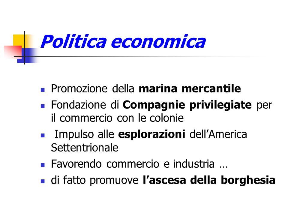 Politica economica Promozione della marina mercantile
