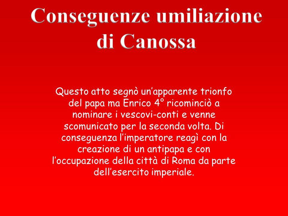 Conseguenze umiliazione di Canossa