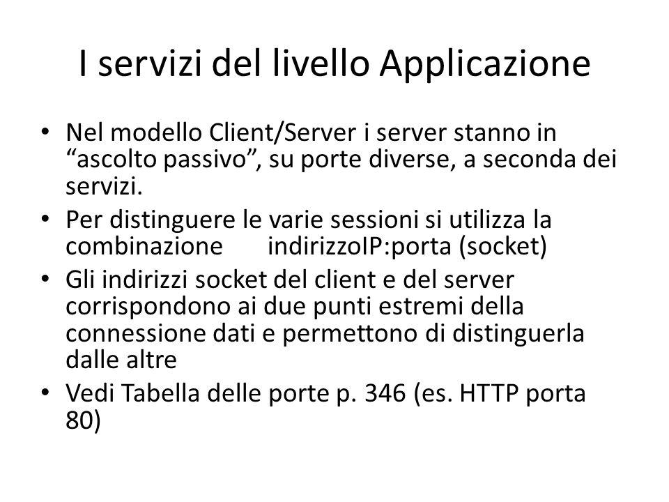 I servizi del livello Applicazione