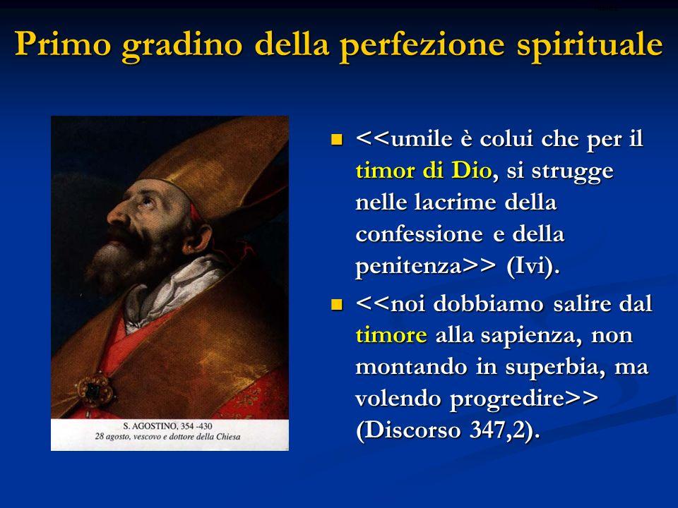 Primo gradino della perfezione spirituale
