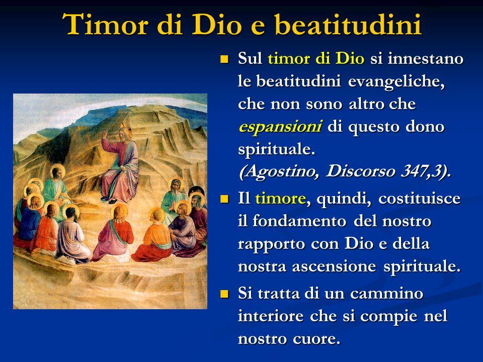 Timor di Dio e beatitudini