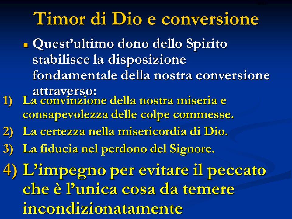 Timor di Dio e conversione