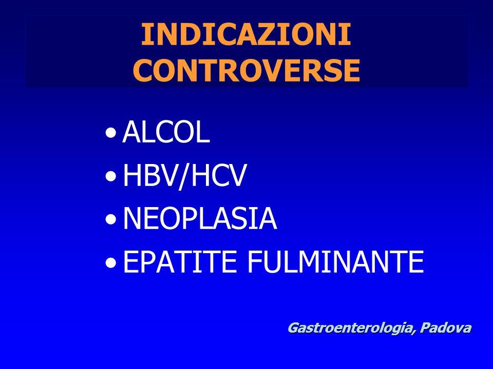 INDICAZIONI CONTROVERSE