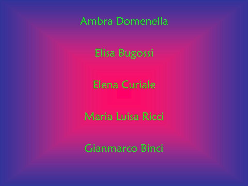 Ambra Domenella Elisa Bugossi Elena Curiale Maria Luisa Ricci Gianmarco Binci