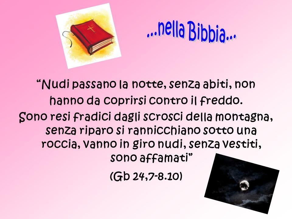 ...nella Bibbia... Nudi passano la notte, senza abiti, non
