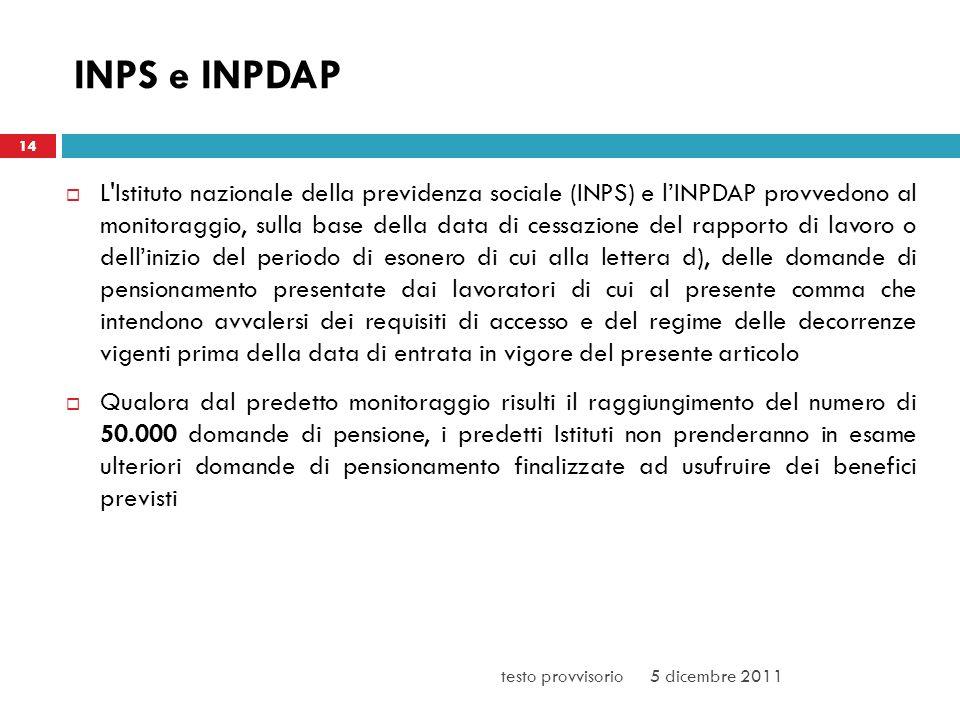 3/25/2017 INPS e INPDAP. 14.
