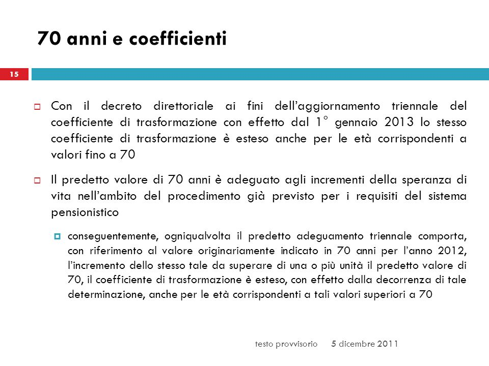 3/25/ anni e coefficienti. 15.