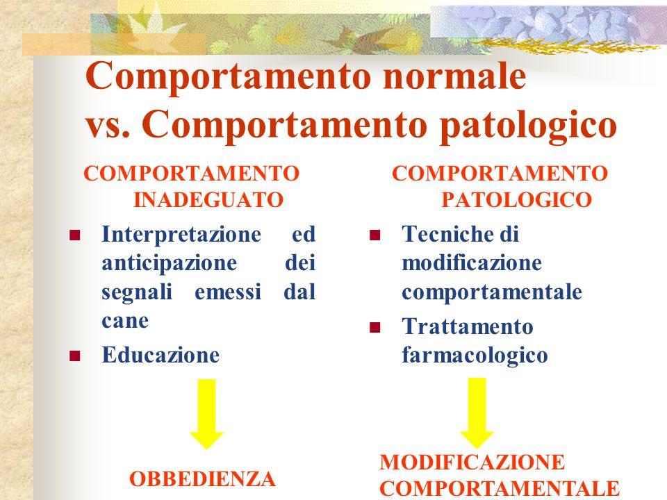 Comportamento normale vs. Comportamento patologico
