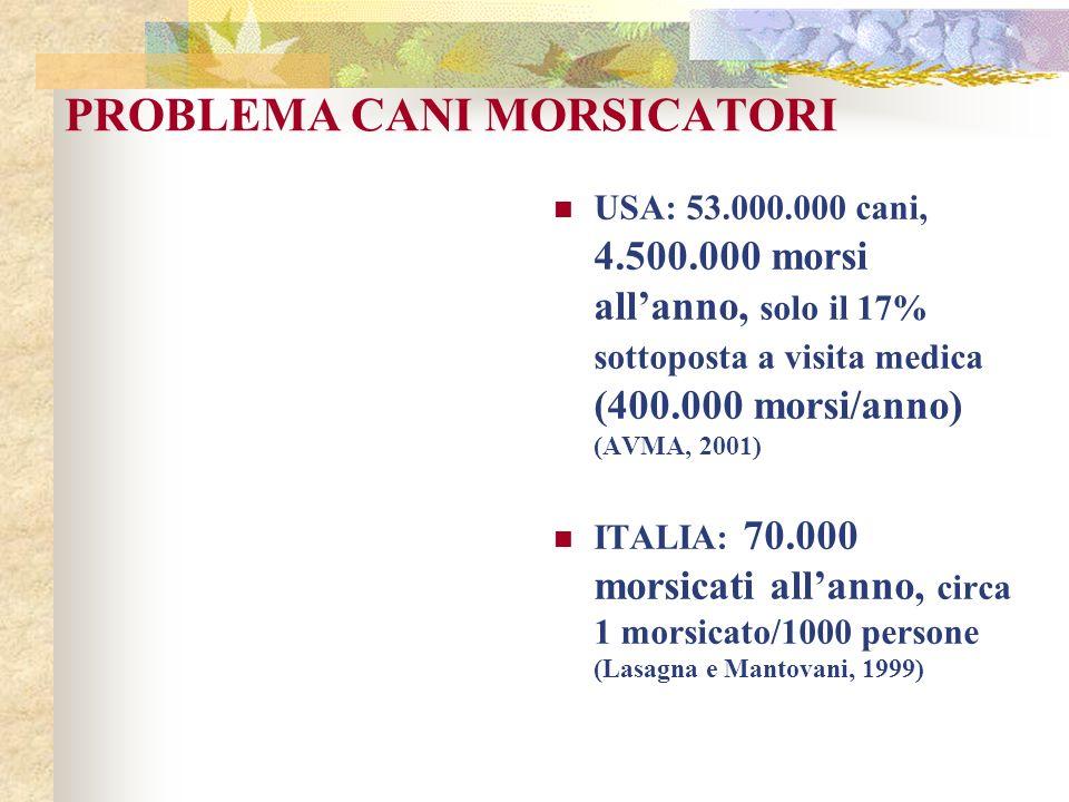 PROBLEMA CANI MORSICATORI