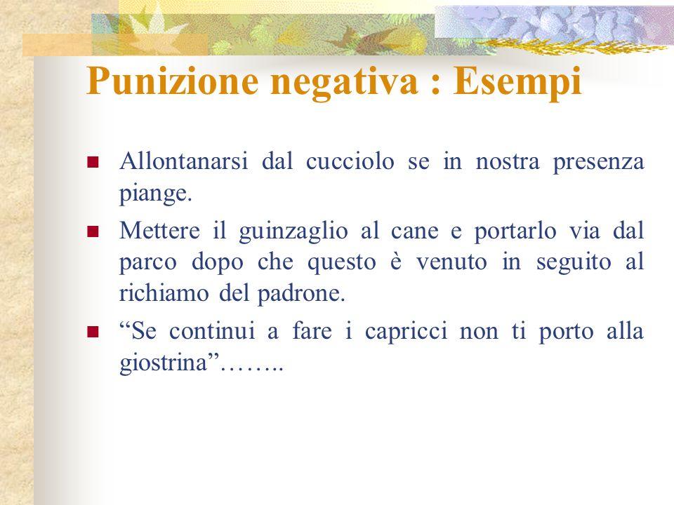 Punizione negativa : Esempi