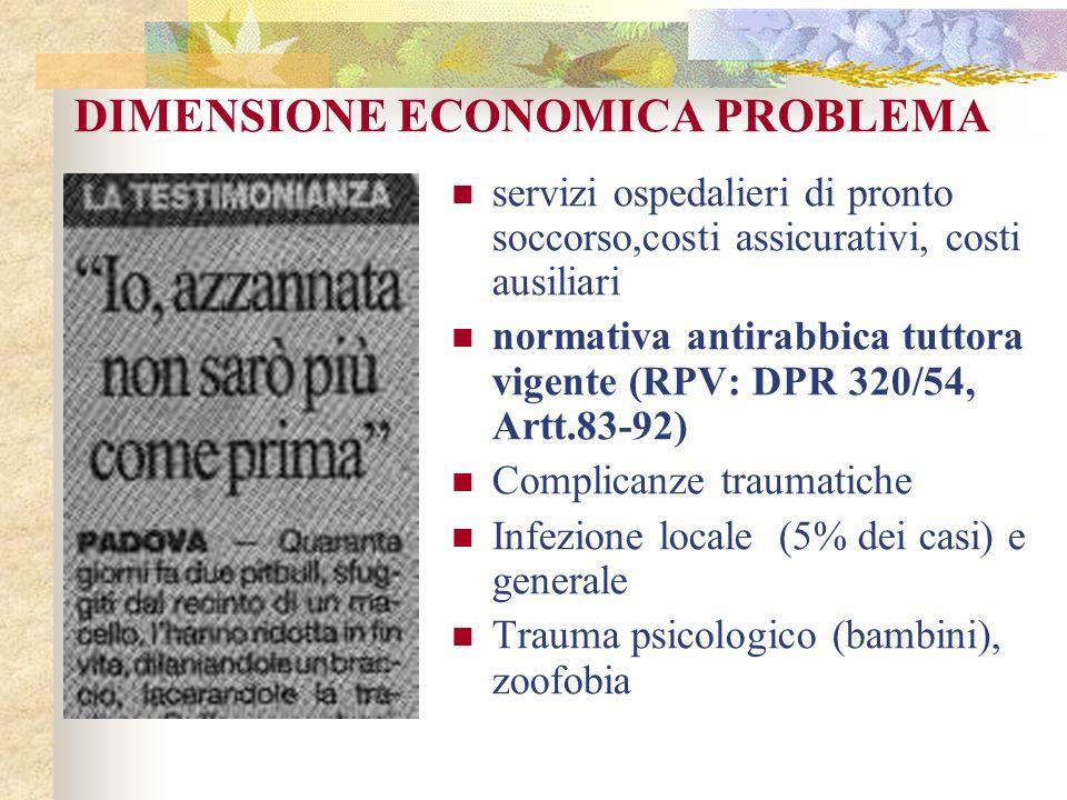 DIMENSIONE ECONOMICA PROBLEMA