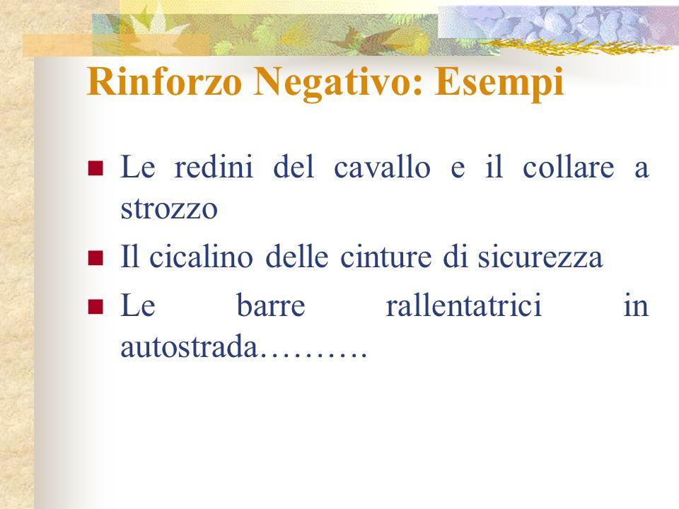Rinforzo Negativo: Esempi
