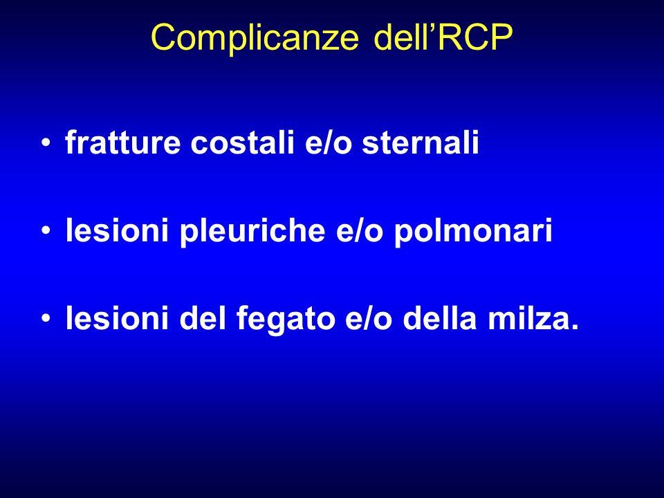 Complicanze dell'RCP fratture costali e/o sternali