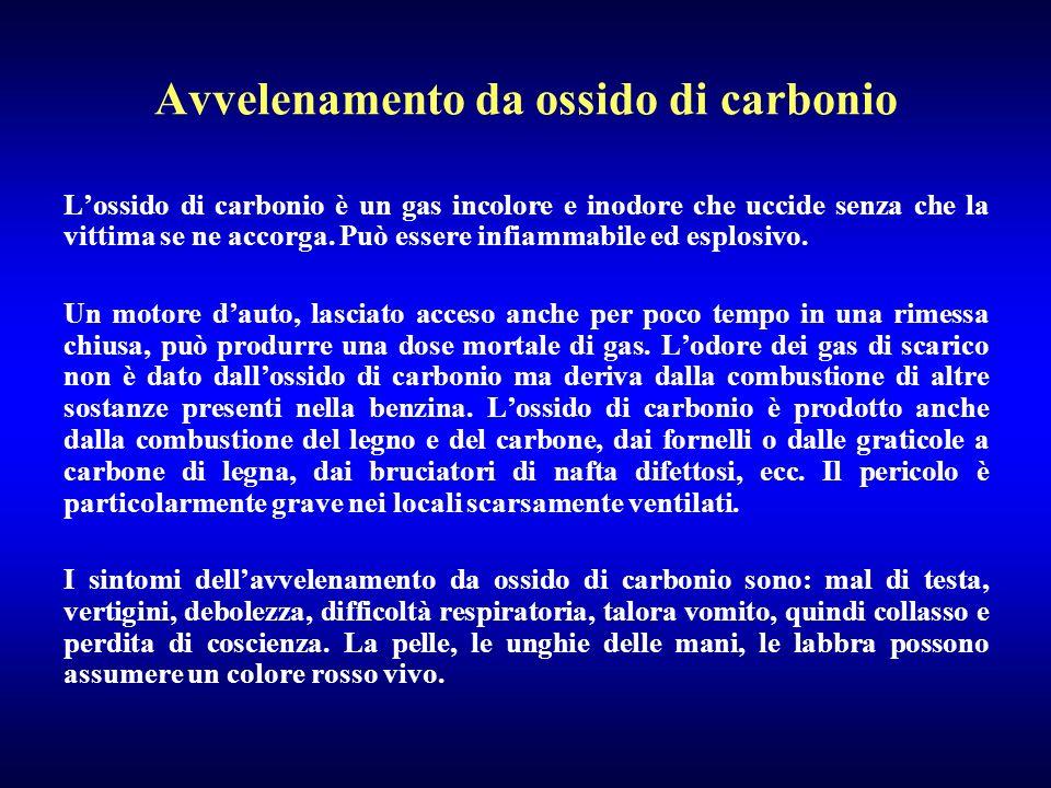 Avvelenamento da ossido di carbonio