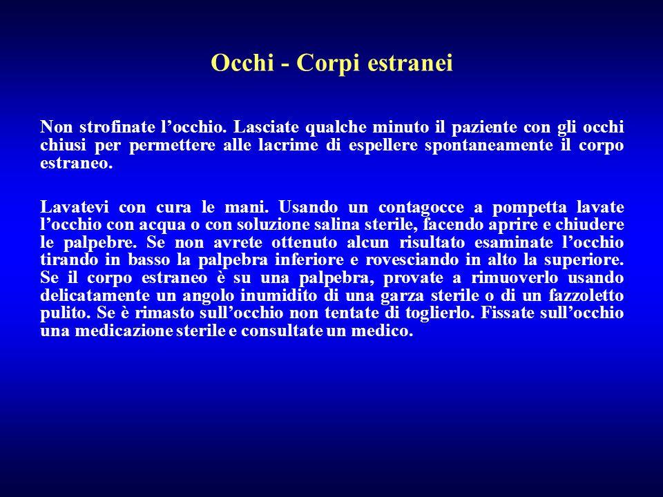 Occhi - Corpi estranei