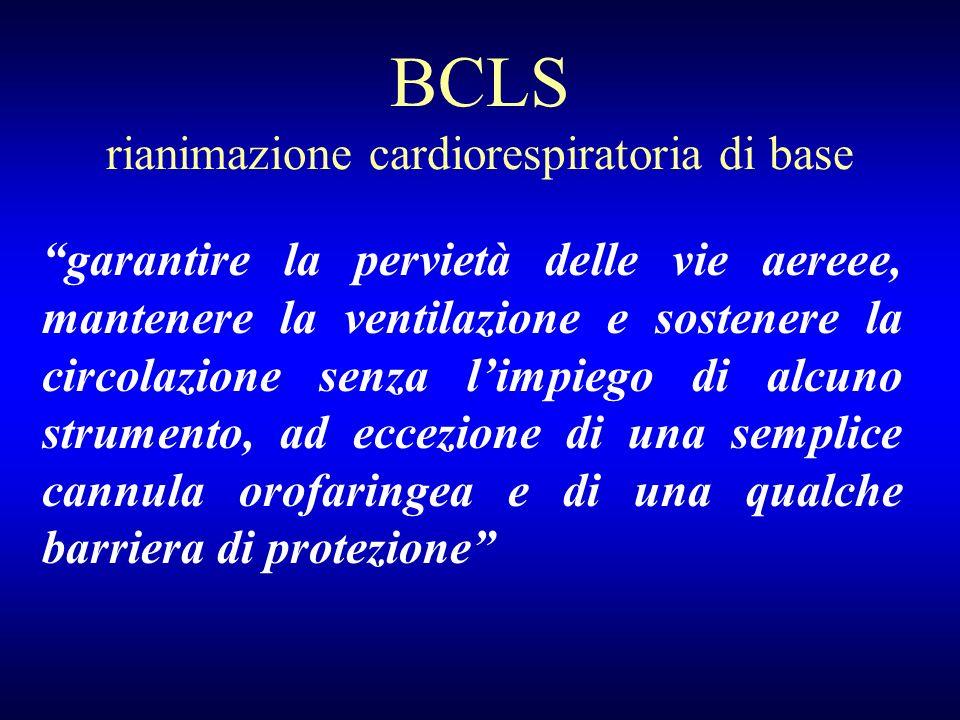 BCLS rianimazione cardiorespiratoria di base