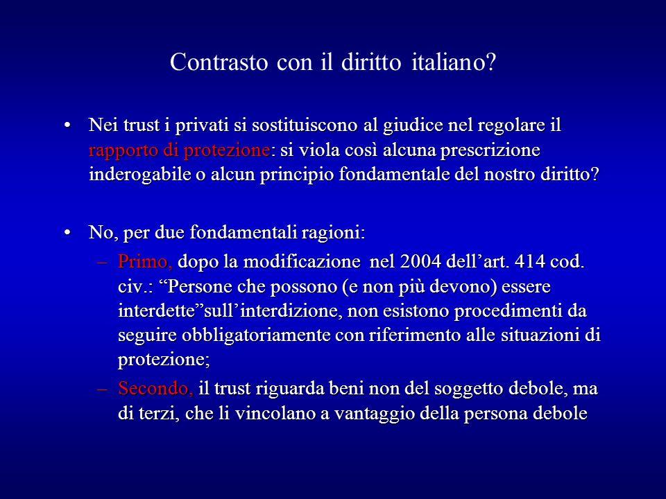 Contrasto con il diritto italiano